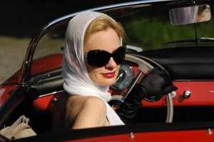 Woman-Driving-Convertible